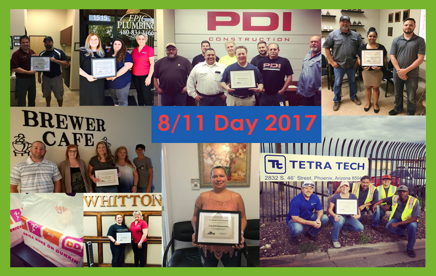 Some of this year's professional contractors who received certificates of recognition on National 811 Day.